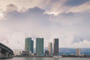 miami skyline cruise storm